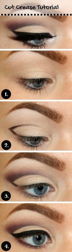 Cut Crease Tutorial for Blue Eyes by dee