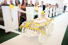 Medium Flower Girl Wedding Wagon Gloss White by Miniwagons
