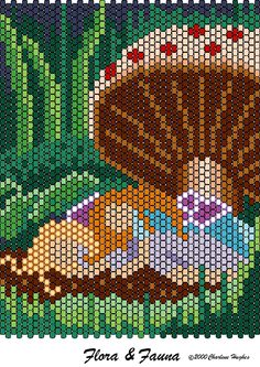 Free Bead Pattern Flora and Fauna by Charelene Hughes aka Beady Boop