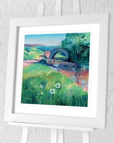 Flat Brushed Deep White Frame Single Mount with V Groove Overall Size 71 x Print Size 60 x Actual Image Size 48 x Country Landscaping, Contemporary Landscape, Paper Roses, New Artists, Framed Art Prints, Landscape Paintings, Group, Wall Art, Canvas