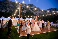 how to make an outdoor dance floor | and lighting transforms an outdoor reception into an elegant affair