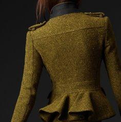 charmedliving:Burberry Peplum jacket