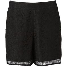 Witchery Lace Short ($15) ❤ liked on Polyvore featuring shorts, tailored shorts, summer high waisted shorts, lace shorts, lace short shorts and highwaist shorts