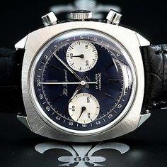 NOS 1960's HELI REYMOND Swiss Vintage Dress Chronograph Watch Valjoux Cal. 7733