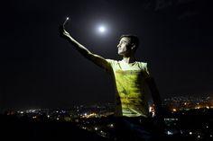 Selfie mit Vollmond: Dieser Mann nutzte das seltene Spektakel, um sich mit...