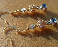 Wedding Elegant Gold and Silver Crystal Earrings on Gold Ear Wires Skull Jewelry, Copper Jewelry, Great Christmas Gifts, Great Gifts, Crystal Earrings, Drop Earrings, Handcrafted Jewelry, Handmade, Happy Valentines Day