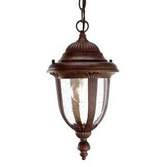 Acclaim Lighting Monterey Collection Hanging Lantern 1-Light Outdoor Burled Walnut Light Fixture-3512BW at The Home Depot