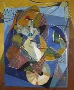 Albert Gleizes (French, 1881-1953), Vaudeville, 1917. Oil on board, 120.6 x 97.7cm.