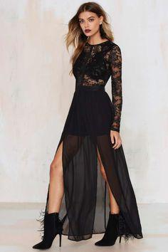 Applique Mystique Lace Dress
