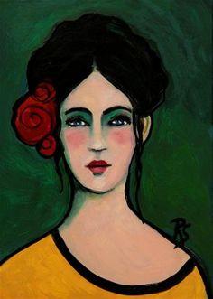 "Daily Paintworks - ""Marianna"" - Original Fine Art for Sale - © Roberta Schmidt"