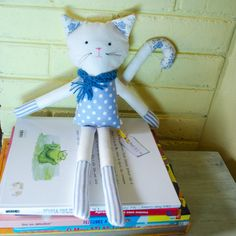 Handmade eco classic cat with antiallergic by SeedsOfLoveHandmade