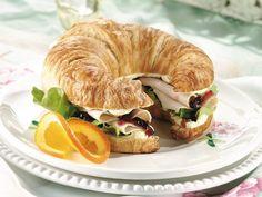 Turkey and Cranberry Croissants