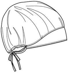 Scrubs Pattern, Scrub Hat Patterns, Hat Patterns To Sew, Sewing Patterns, Bandana Vintage, Sewing Hacks, Sewing Projects, Scrubs Uniform, Nurse Hat