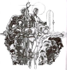 Pencil comp for the cover for MARVEL COMIC INDEX- FANTASTIC FOUR AND SILVER SURFER by Jim Steranko
