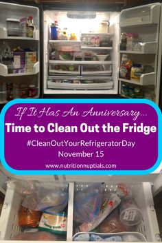 November 15 is National Clean Out the Fridge Day. Learn what to keep, clean, and ditch from your fridge & freezer with these food safety tips. #CleanOutYourRefrigeratorDay