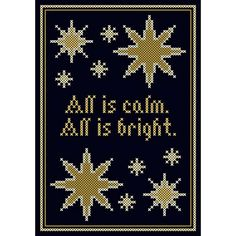 All is Calm ... All is Bright  Cross Stitch by neverdyingpoet, $5.00