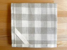gingham dish towels