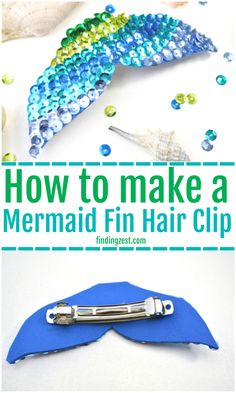 This easy mermaid fin hair clip craft is a great way to get the look witho Sleepover Party Games, Bridal Party Games, Graduation Party Games, Housewarming Party Games, Mermaid Fin, Baby Mermaid, Mason Jar Crafts, Party Activities, Camping Activities