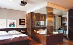 Banheiro Integrado ao Quarto! Veja modelos e dicas! - Decor Salteado - Blog de Decoração, Arquitetura e Construção