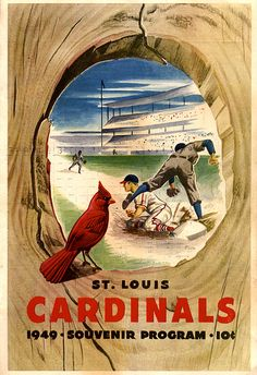 1949. Cardinals Program.