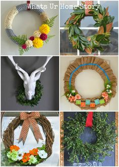 6 Easy DIY Wreaths that anyone can make