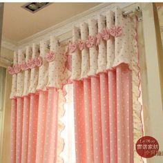 Criança frete grátis verdadeira cortinas menina cortinas princesa pano rústico rosa cortinas produto acabado