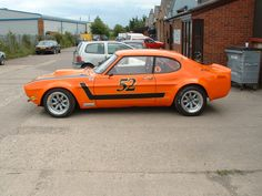 1971 Ford Capri Perana - Orange, Rally, Wide Arch - I want to build something like this, a very budget friendly one Ford Capri, Ford Motor Company, Mercury Capri, Ford Classic Cars, Ford Escort, Car Ford, Rally Car, Amazing Cars, Hot Cars