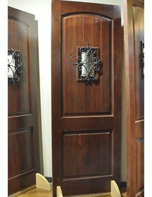 Beautiful Knotty Alder and Wrought Iron front Entry | Foyer ...