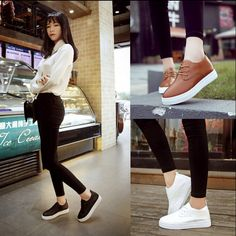 2017 Very Popular Newest Fashion Korean Women's Lace-up Breathable Casual Shoes | eBay