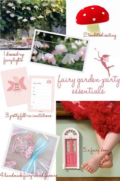 Things i need for a Fairy Soiree.