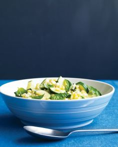 Corn-and-Zucchini Saute with Basil Recipe | Cooking | How To | Martha Stewart Recipes