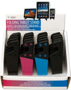 Folding Tablet Stand Countertop Display Case Pack 20