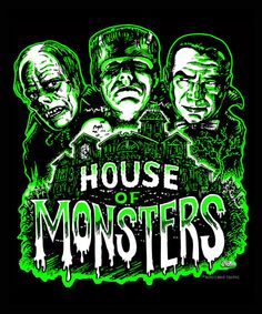Classic Monster Movies, Classic Horror Movies, Classic Monsters, Monster House, Monster Art, Scott Jackson, Spooky House, Horror Posters, Famous Monsters
