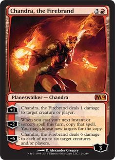 *Chandra, the Firebrand* - Magic 2012 (M12) - Modern Legal Cards - Magic: The Gathering - 4 - 4
