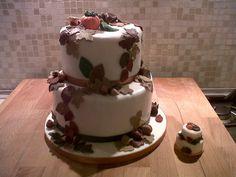 Cake art fall decor leaves&pumpkin- torta autunno zucca e foglie autunnali #cakedesign