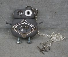 Robot Polymer Clay Pendant by caldwali on Etsy  (An exclusive design of Magpie Designs. Copyright, 2013. All Rights Reserved.)