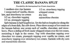 """Banana Split recipe, published in the Arkansas Democrat newspaper (Little Rock, Arkansas), 11 March 1992. Read more on the GenealogyBank blog: """"Celebrating National Ice Cream Day: You Scream for Ice Cream."""" https://blog.genealogybank.com/celebrating-national-ice-cream-day-you-scream-for-ice-cream.html"""