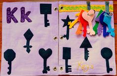 The Adventures of Six Hobbits: Alphabet Quiet Book: K is for Keys Diy Quiet Books, Baby Quiet Book, Felt Quiet Books, Silent Book, Sensory Book, Quiet Book Patterns, Toddler Books, Book Quilt, Busy Book