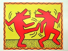 Keith Haring - Dancing Dogs