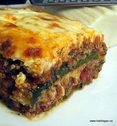 Moussaka With Zucchini - Kalofagas - Greek Food & Beyond  (will need to switch out some ingredients to be GF)