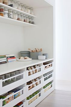 Gallery Of Bourne Road Residence By Studio Four Local Design & Interiors Glen . Gallery Of Bourne Road Residence By Studio Four Local Design And Interiors Glen Iris, Vic Image Pantry Room, Pantry Storage, Kitchen Storage, Pantry Shelving, Storage Drawers, Retail Shelving, Warehouse Shelving, Kitchen Drawers, Shoe Storage