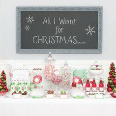 Christmas tablescape via House of Fifty