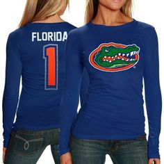Florida Gators Ladies First Goal Long Sleeve T-Shirt - Royal Blue