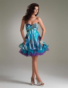 pretty short dress lots of color not as short as some would be good to dance in