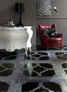 Beautiful italian flooring from I Vassalletti Artigiani in Toscana. Inspiration for a sophisticated classic look. More ways to get this look at CityTile.net