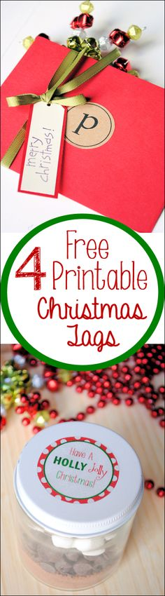 Free Printable Christmas Tags-4 Free downloadable templates from Crazy Little Projects