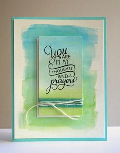 I do so love the watercolor look, and I love how easy it is to achieve.   This card was a really quick and easy one to put together. I...