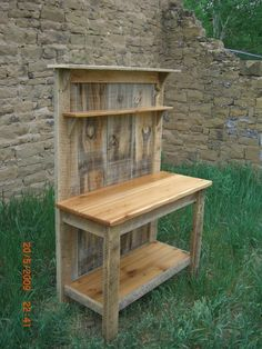 Barnwood Cedar Potting Bench - My Woodworking Shed
