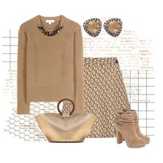 Golden just Golden! by gemique on Polyvore featuring Burberry, Paul & Joe Sister, Jessica Simpson, The Row, Suzanne Kalan, Forum, women's clothing, women's fashion, women and female