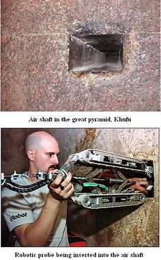 Ancient aliens 704602304181283483 - Hidden chamber discovered in peak of great pyramid Source by antraniktutundjian Unexplained Mysteries, Ancient Mysteries, Ancient Artifacts, Ancient Egypt History, Ancient Aliens, Khufu Pyramid, Arte Alien, Atlantis, Historia Universal